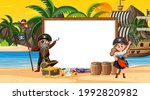 empty banner template with... | Shutterstock .eps vector #1992820982