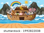 Noah's Ark With Animals In The...