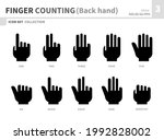 finger counting back hand icon... | Shutterstock .eps vector #1992828002