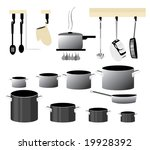 vector cooking collection is... | Shutterstock .eps vector #19928392
