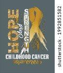 childhood cancer awareness...   Shutterstock .eps vector #1992851582