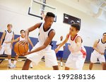 male high school basketball... | Shutterstock . vector #199288136