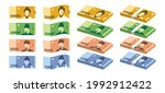 korean currency  flat simple...   Shutterstock .eps vector #1992912422