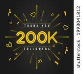thank you 200k followers design.... | Shutterstock .eps vector #1993041812