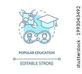 popular education concept icon. ... | Shutterstock .eps vector #1993043492