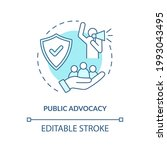 public advocacy concept icon.... | Shutterstock .eps vector #1993043495