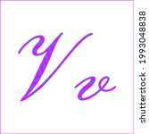 letter v with 2 color pattern...   Shutterstock .eps vector #1993048838