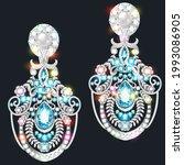 illustration set of jewelry... | Shutterstock .eps vector #1993086905