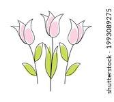doodle sketch flower with color ...   Shutterstock .eps vector #1993089275