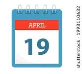 april 19   calendar icon  ... | Shutterstock .eps vector #1993110632