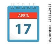 april 17   calendar icon  ... | Shutterstock .eps vector #1993110635
