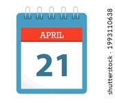 april 21   calendar icon  ... | Shutterstock .eps vector #1993110638