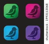 bird four color glass button...   Shutterstock .eps vector #1993113068