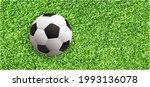 soccer ball or football on...   Shutterstock .eps vector #1993136078