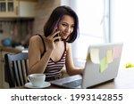 a beautiful young brunette girl ...   Shutterstock . vector #1993142855