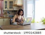 a beautiful young brunette girl ...   Shutterstock . vector #1993142885
