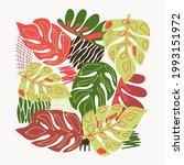 natural floral pattern  leaf...   Shutterstock .eps vector #1993151972