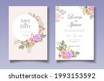 elegant wedding card with...   Shutterstock .eps vector #1993153592