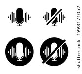 turn off the microphone icon....   Shutterstock .eps vector #1993171052
