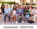 outdoor portrait of high school ... | Shutterstock . vector #199317152
