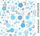 seamless natural ditsy pattern...   Shutterstock .eps vector #1993183508