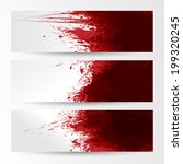 set of three banners  abstract... | Shutterstock .eps vector #199320245