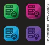 account four color glass button ...