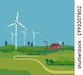 green renewable energy concept... | Shutterstock .eps vector #1993207802
