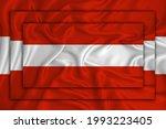 Austria Flag On Background...