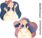 beauty routine  hair routine ... | Shutterstock .eps vector #1993236008