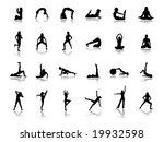 fitness silhouettes | Shutterstock .eps vector #19932598