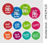 set of tags for sale with... | Shutterstock .eps vector #199329125