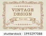 decorative vintage frame and...   Shutterstock .eps vector #1993297088