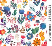 flowers seamless pattern... | Shutterstock .eps vector #199330136