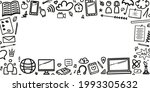 back to school. hand drawn... | Shutterstock .eps vector #1993305632