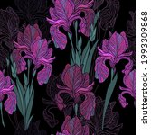 a seamless background of irises ... | Shutterstock .eps vector #1993309868