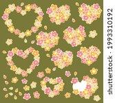 heart shaped cherry blossom... | Shutterstock .eps vector #1993310192