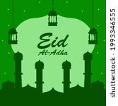 eid al adha greeting design on... | Shutterstock .eps vector #1993346555