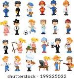 cartoon characters of different ... | Shutterstock .eps vector #199335032