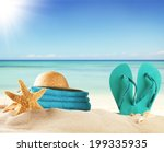 summer concept with swimming... | Shutterstock . vector #199335935