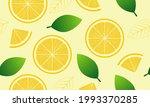 lemon and leaves seamless... | Shutterstock .eps vector #1993370285