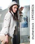beautiful brunette young woman... | Shutterstock . vector #199338026