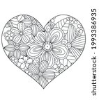 heart with floral pattern.... | Shutterstock .eps vector #1993386935