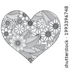 heart with floral pattern.... | Shutterstock .eps vector #1993396748