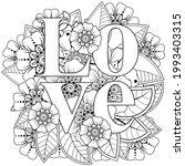 mehndi flower for henna  mehndi ... | Shutterstock .eps vector #1993403315