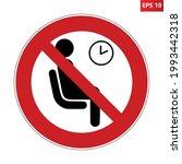 no waiting room sign. vector... | Shutterstock .eps vector #1993442318