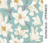 seamless vector floral pattern. ... | Shutterstock .eps vector #199348652