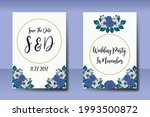 wedding invitation watercolor...   Shutterstock .eps vector #1993500872