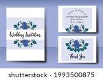 wedding invitation watercolor...   Shutterstock .eps vector #1993500875