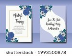 wedding invitation watercolor...   Shutterstock .eps vector #1993500878